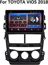 XZZTX 9 Inch Android 9.0 Car GPS Navigation Touch Screen Stereo Head Unit for Toyota VIOS 2018 Car Radio Bluetooth WiFi Mirror Link Steering Wheel Control,1+16gwifi