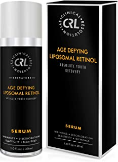 CRL Age Defying Liposomal Retinol Serum for Face (1.0 fl oz/ 30ml) – Face Repel Facial Wrinkles, Discoloration, Lack of Elasticity, Blemishes