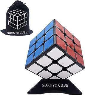 SOKOYO Guanlong 3x3x3 Speed Cube Professional Magic Cube Puzzle Toys 56mm (Black)