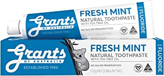 Grants Fresh mint Toothpaste with Fluoride, 110 grams