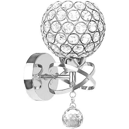 Lampes murales en cristal, HJZ Modern Style pendentif en Cristal mur Lampe Chambre Aisle Living Wall Chambre Lumière Holder E14 Socket, Ampoule non incluse