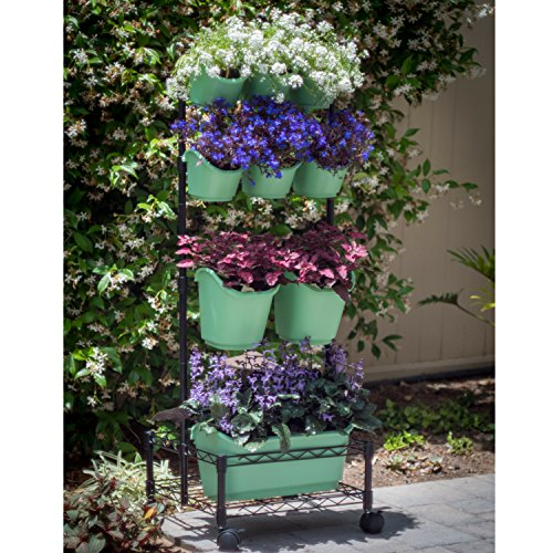 Watex Mobile Green Wall (Double Frame, Spring Bouquet), BPA Free Planters