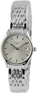 Longines Lyre Silver Sunray Dial Stainless Steel Quartz Ladies Watch L4.259.4.72.6