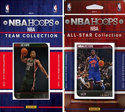 NBA Milwaukee Bucks Licensed 2014-15 Hoops Team Plus All-Star Set, Brown, One Size
