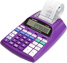 $37 » Catiga 12-Digit Desktop Commercial Printing Calculator with Tax Functions, Two Color,2.03 Lines/sec, CP-1800 for Home/Office, 4 AA Battery Included (Purple)