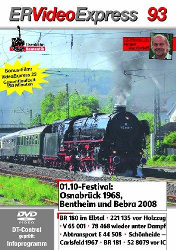 ER Video Express 93: 01.10-Festival Osnabrück 1968, Bentheim und Bebra 2008