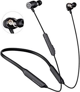 SOUNDPEATS Dual Dynamic Drivers Bluetooth Headphones, Neckband Wireless Earbuds with Crossover, APTX HD Audio Built in Mic...