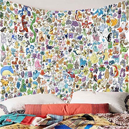 YXZQ - Tapisserie murale imprimée Pokémon - 150 x 200 cm - Taille ou impression personnalisable