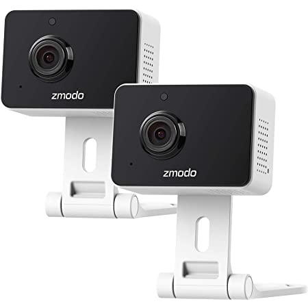 Zmodo Mini Pro 1080p Indoor Home Security Camera Wireless Baby Monitor Pet Cam Nanny Camera Two-Way Audio, Night Vision, Motion Detection Work with Alexa