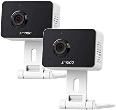 Best Zmodo 1080p Mini WiFi Pet Camera Two-Way Audio Smart Home Camera with Night Vision, Works with Alexa & the Google Assistant (2 Pack) Reviews