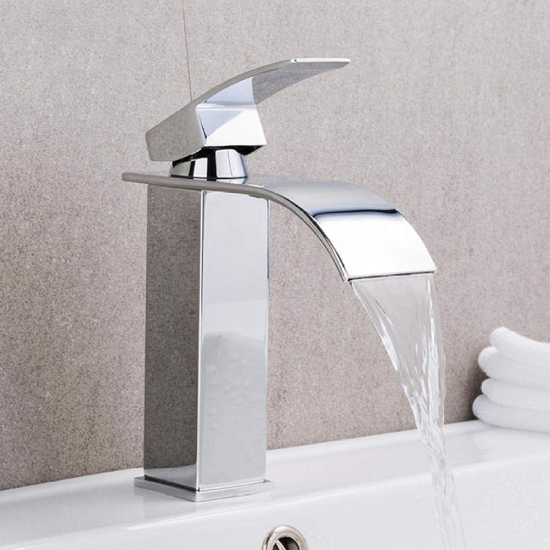 Chrome Basin Wasserhahn Deck Mount Wasserfall Bad Wasserhahn Vanity Vessel Sinks Mischbatterie Kalt- und Warmwasserhahn
