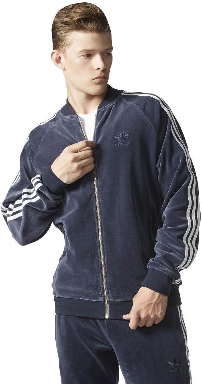 adidas Superstar Men's Velour Jacket, Men, Velour Superstar ...