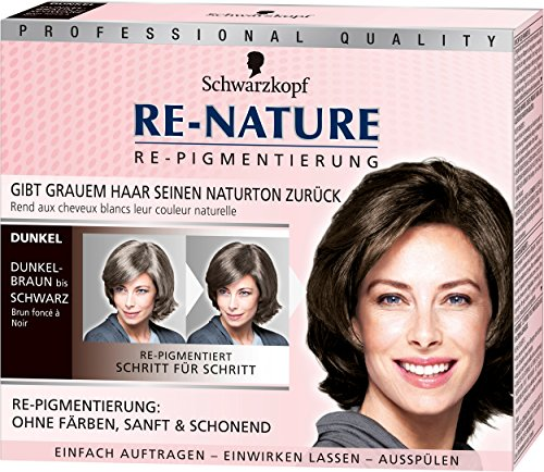Schwarzkopf Re-Nature Re-Pigmentierung für Frauen, dunkel, 3er Pack (3 x 100 g)