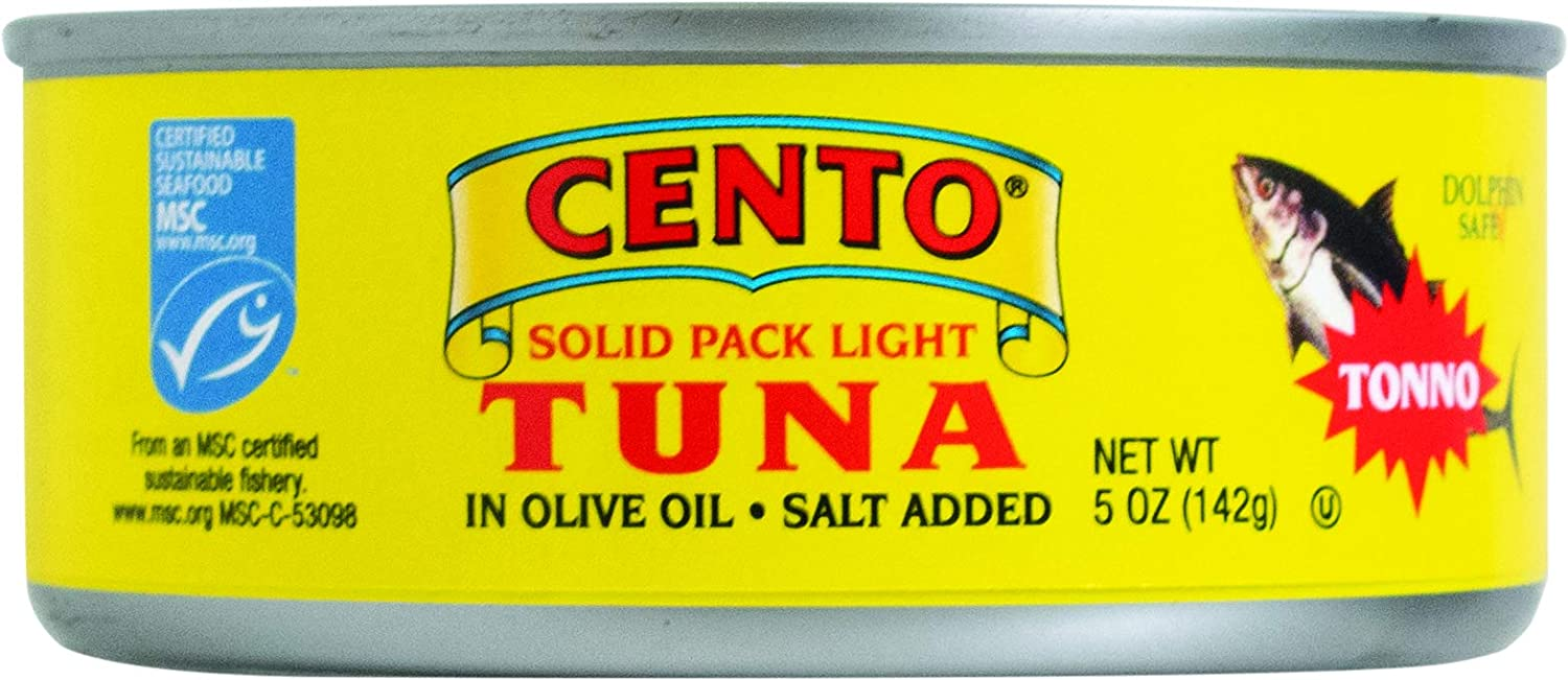 Cento Solid Packed Tuna in Olive Cans Over item handling ☆ 24 Translated of Oil 5-Ounce Pack