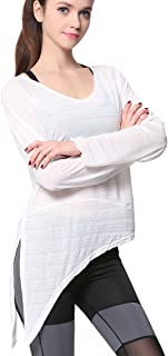 Campeak Women's Yoga Workout Sport Long Sleeve Shirt Breathable Exercise Blouses