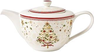 Villeroy & Boch Winter Bakery Delight Théière, 1,3 litre, Porcelaine Premium, Rouge/Beige