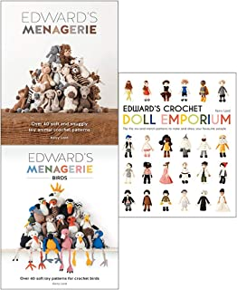 Kerry Lord Collection 3 Books Set (Edward's Menagerie, Edward's Menagerie Birds, Edward's Crochet Doll Emporium (Hardcover))