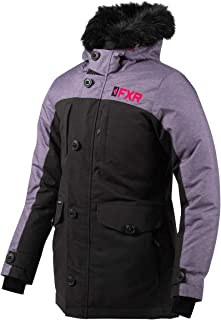 FXR Womens Svalbard Parka 2020 (Black/Mid Gray Heather/Electric Pink - Size 6)