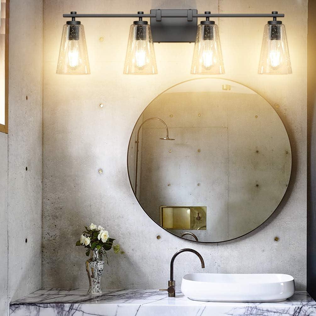 Buy Aipsun Industrial Bathroom Vanity Light Black Vintage Bathroom Lighting Fixtures Vanity Light Fixtures For Bathroom 4 Light Not Include Bulb Online In Vietnam B087jmr8gk