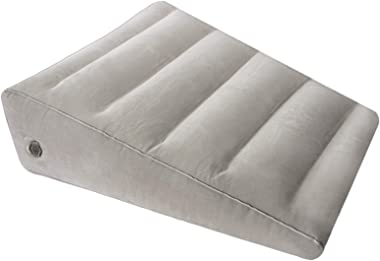USHMA Inflatable Wedge Pillow for Sleeping, Portable Back Pillows for Sitting in Bed, Blow up Under The Knee Pillow