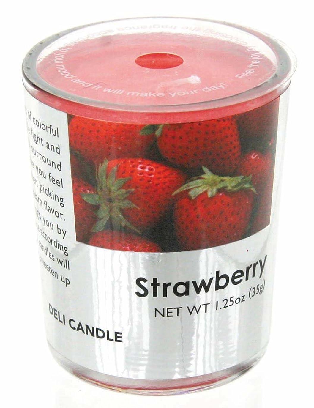 ピカソ導入する食器棚デリキャンドル ストロベリー 35g(フルーツの香りのろうそく 燃焼時間約10時間)