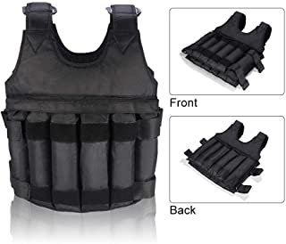 HunterBee Adjustable Weighted Vest 20 kg/44 lbs Weighted Vest Jacket Training Exercise Jogging Fitness Workouts Weight Vest for Running, Workout, Cardio