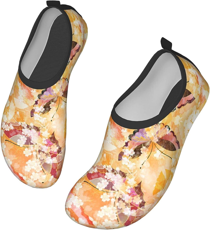 Japanese Floral Pattern Cherry Blossom Classic Japanese Wave,Umbrella,Kimonos,Sakura(6) Water Shoes for Womens Mens Summer Barefoot Shoes Quick Dry Aqua Socks for Beach Swim Yoga Exercise