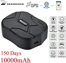Zeerkeer Rastreador GPS , Localizador GPS para Coche 10000 mAh 150 días en Espera Seguimiento en Tiempo Real Gps Tracker Impermeable y Antirrobo para Automóvil / Camión / Motocicleta / Barco