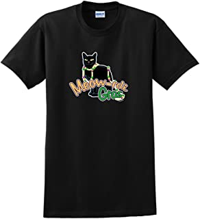 Meow-rdi Gras Funny Cat Mardis Gras Beads T-Shirt