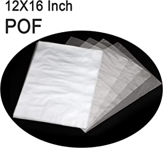 COQOFA POF Heat Shrink Wrap Bags 12x16 inch 100 pcs Clear Non Toxic No Smell Soft Environmental Friendly DIY and Industrial Packaging Plastic Sealer Film with Tiny Air Vent Holes Thicker 120 Gauge