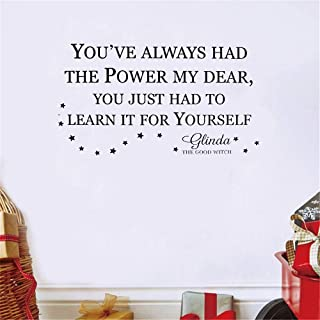 uamser Wall Stickers Quotes Vinyl Art Room Mural Posters You've Always Had The Power My Dear You Just Had to Learn It for Yourself