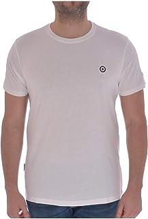 Lambretta Mens Core Target Cotton Short Sleeve T-Shirt Top - White - XL