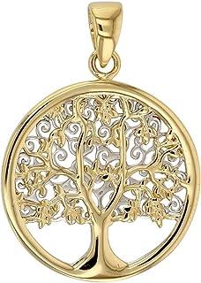 Jouailla 306057 Pendentif rond colombe en Or 750//1000 serti dun diamant 0.01ct