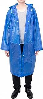 Moda duradero EVA Lluvia capa de lluvia del poncho Unisex Hombres Mujeres con capucha y mangas, reutilizable, portátil, plegable.