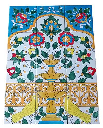 Spanische Fliesen handgemalte Fliesen Fliesenbild Keramikfliesen 45x60 Wand-Bodenfliesen