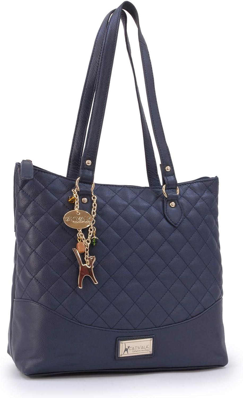 Femme SOFIA Catwalk Collection Handbags Cuir Matelass/é Sac Port/é Main//Sac /à Main//Sac port/é /épaule//Cabas//Tote