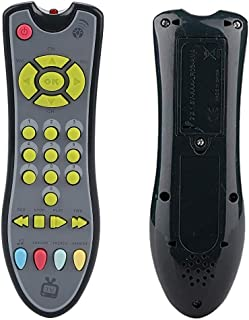 Horuhue Kids Music TV Remote Control Toy with Lights and Sounds, Early Educational Preschool Learning Toys for Toddlers Boys & Girls 1-3