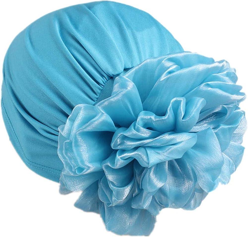 Women Flower Elastic Turban Beanie Head Scarf wrap Chemo Cap hat for Cancer Patient