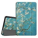 Fintie Coque Samsung Galaxy Tab A6 10.1 - Ultra-Mince et Léger Housse Etui Cover avec Sleep Wake Up Fonction pour Samsung Galaxy Tab A (2016) SM-T580 SM-T585 10.1' Tablette, Blossom
