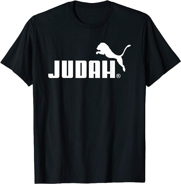 Lion of Judah T Shirt Christian Jesus God Bible Love Cross