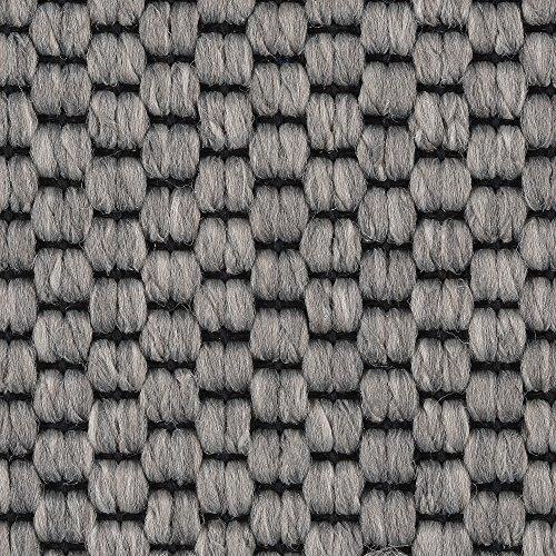 Teppichboden Auslegware | Sisal-Optik Schlinge | 400 und 500 cm Breite | grau | Meterware, verschiedene Größen | Größe: 1,5 x 5 m