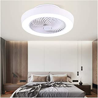 Bedroom Fan LED Ceiling Light Simple Modern Fashion Personality Warm Restaurant Fan Chand elier Square White