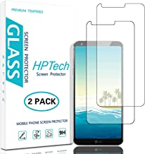 HPTech LG G6 Screen Protector - (2-Pack) Tempered Glass Screen Protector for LG G6 Bubble Free / Easy to Install / 9H Hardness with Lifetime Replacement Warranty