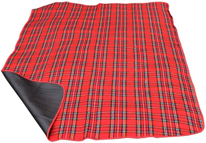 YYIN Outdoor Mat Camping Picnic Blanket Flocking Damp Proof Beach Cushion Large 200  150 Mat,Red