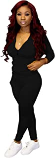 Womens Sweatsuit Set Two Piece Outfits Top + Skinny Long Pants Tracksuits Jogging Suits Jumpsuits