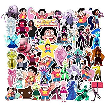 Decal Stickers 50 PCS Steven Universe Laptop Sticker Waterproof Vinyl Stickers Car Sticker Motorcycle Bicycle Luggage Decal Graffiti Patches Skateboard Sticker  Steven Universe