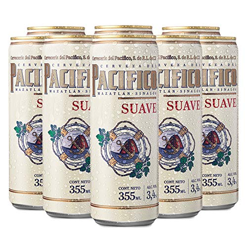 Cerveza Clara Pacifico Suave, 24 latas de 355 ml c/u