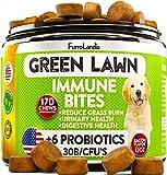 FurroLandia Natural Grass Saver for Dogs - 170 Soft Chews - Dog Pee Lawn Repair Caused by Dog Urine - Grass Saver Rocks - Apple Cider Vinegar - DL-Methionine + Probiotics + Digestive Enzymes - USA