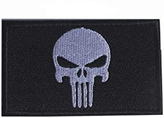 Punisher Tactical Patch Military Army Embroidered Sew on Skull Shoulder Patches Cloth Fabric Patche for Cap Bag Jackets wi...