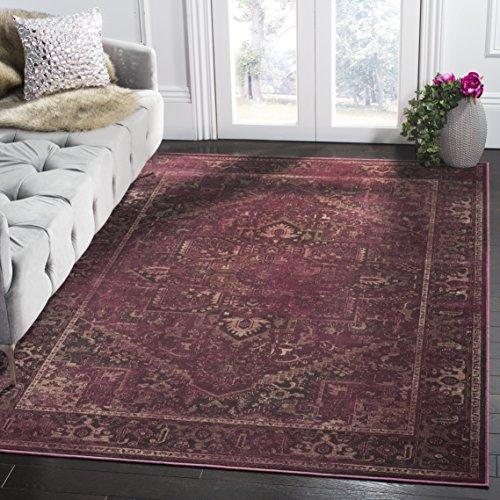 Safavieh Vintage Inspirierter Teppich, VTG114, Gewebter Viskose, Himbeere Rot, 160 x 230 cm